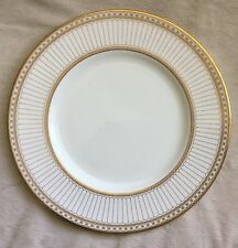 """RARE BEAUTIFUL WEDGWOOD COLONNADE GOLD W4339 10.75"""" DINNER PLATE PRISTINE 1ST"""