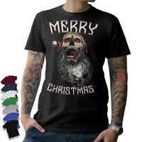 BAD SANTA T-SHIRT Weihnachten Weihnachtsmann Merry Christmas Skull Totenkopf