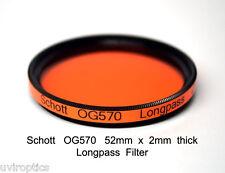 Schott OG570 52mm x 2mm thk 570nm Longpass Infrared Color IR Photography Filter