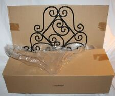 Longaberger Classic Black Wrought Iron Flower Box Planter Plant  Stand  71522
