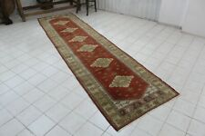 "Vintage Handmade Turkish Oushak  Runner Rug Carpet 134""x34"""
