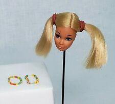Vintage Malibu PJ Doll Head Steffie Multicolor Hair Bracelet Beads Lot
