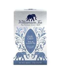 2 x WILLIAMSON TEA SILVER CARTONS - NEW- EARL GREY TEA BAGS