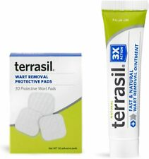 Terrasil Balanitis Relief Kit - Wart Removal Pads + Ointment All-Natural Cream