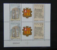 Andorra 1994 New Constitution set in blocks x 4 Gutter pairs 2 sets MNH