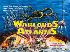 1978 Warlords Of Atlantis Vintage Sci-Fi Movie Poster Print Style B 18x24