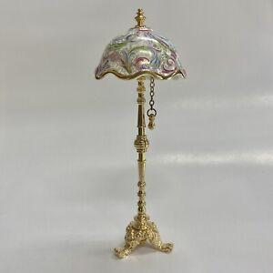 Reutter Porcelain Miniature Dollhouse Fancy Victorian Floor Lamp 1:12