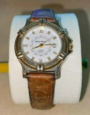 strap used runs and tells time great Hugo Maxx Gold Pl Watch Womens with leather