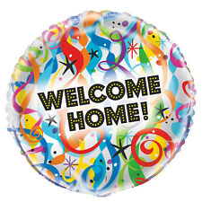 "WELCOME HOME BALLOON 18"" COLOURFUL BRIGHT WELCOME HOME UNIQUE FOIL BALLOON"