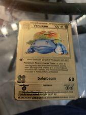 1999 Wizards Pokemon Base Set Venusaur 1st Edition Metal Card Rare Holo 15/102