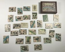 Paris Map Magnets - Set of 30 Vintage 1920s Paris Map Magnets, Cavallini and Co.