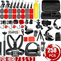 258pcs Action Camera Accessories Kit For GoPro Hero Video Cam Mount Tripod Set