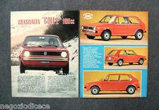 BF94 - Clipping-Ritaglio -1975- PROVE SU STRADA , VOLKSWAGEN GOLF L 1100 cc