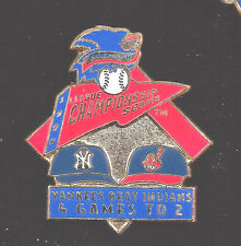New York Yankee 1998 Pin Commemorating Division Win over The Indians 4-2