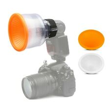 Universal White Lambency Flash Easy Carry Diffuser Reflector With Dome Cover Set