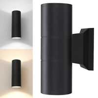 1/4x Up Down Dual Head Wall Light Sconce LED Lighting Fixture Outdoor Waterproof