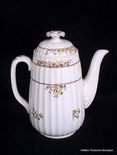 Copeland Spode Buttercup (Older Mark) Coffee Pot w/Lid Yellow Flowers/Brown A
