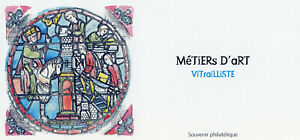 France 2021 MNH Art Stamps Stained Glass Metiers D'Art 1v M/S Phil Souvenir