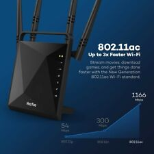 HooToo Wireless Router AC1200, 4 Antennas USB 3.0 Port, Dual Band 2.4GHz / 5GHz