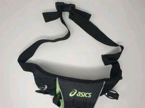 Oasics Running Belt With Adjustable Strap / Belt In Black & Green
