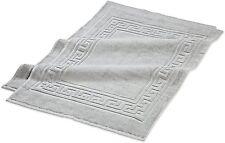 E 00004000 gyptian Cotton Superior 2 Piece Bath Mat Bath Rug Set Silver
