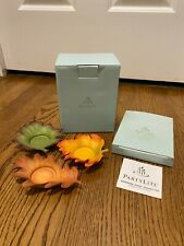 PartyLite Whispering Fall Leaves Tealight Candle Trio Holder with Candles - Nib