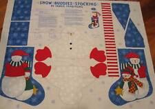 Snow Buddies Snowman Stocking Panel Fabric