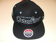 Zephyr North Carolina Tar Heels Black Snapback Cap Hat Headliner NCAA College OS