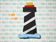 """NEW """"LIGHTHOUSE"""" Girls Ribbon Hairbow Clip Grosgrain Bow Boutique Beach Water"""