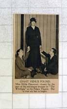 1919 Miss Hilda Desmond Chosen For Statuesque Woman Whirligig Palace Theatre
