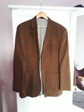 Designer Wool/Linen/Silk Mens Brown Jacket, size German 98 (38-40 Seldom worn