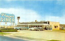 Brooklawn NJ Ponzio's Diner Telephone Booth's Old Cars Postcard