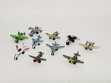 Lot 10 Imperial Die Cast Mini Fighter Jets, Airplanes, Prop Plane Micro Scale