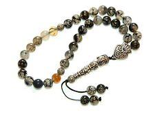 0162 - Prayer Worry Beads Komboloi Tasbih 8mm Dragon Vein Agate Gemstone Beads