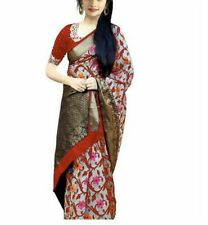Women's Traditional Bhagalpuri Silk Saree  RED