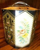 Vintage Edward Sharp & Sons Octagon Floral Biscuit Tin Candy Box Made England 99