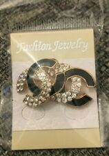 FASHION JEWELLERY GOLD DIAMOND AND BLACK EARRINGS BRAND NEW
