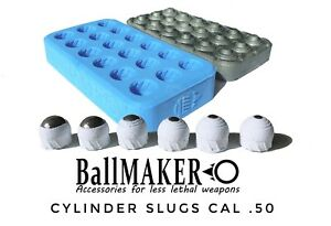 BallMAKER Silicon MOLD making Cylinder SLUGS cal. 50 fur HDR 50 RAM T4E