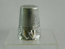 """Dé à coudre en argent décor """"coeur""""/Thimble silver /Fingerhut silber"""
