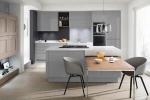 Magnet Meteor Grey matt slab 7 Kitchen Unit £1399 / £1850 FITTED