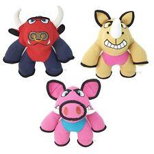 Set of 3 Canvas Plush Dog  Pet Play  Dog Toys Bull, Pig