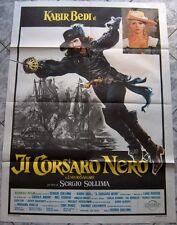 poster 2 sheets IL CORSARO NERO Kabir Bedi Salgari black sails og Italy 1976