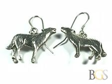 Unique Ladies Sterling Silver Howling Coyote Earrings - A Must See! - Wow!