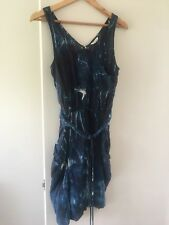 Country Road blue silk mini dress (size 10)