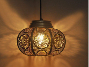 Moroccan Turkish Lamp Vintage Pendant Lamp Golden Ceiling Light Hanging Lamps