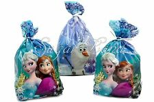 Disney Frozen Treat Bags Favors Cellophane Elsa Birthday Party Supplies 16 PACK