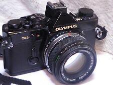 Olympus OM 2N 35mm MD Film Camera 50mm f/1.8 Lens  black full working order