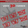 2er SET - WASCHSYMBOL Waschen Aufkleber Auto/Motorrad - 30 Farben - 10cm