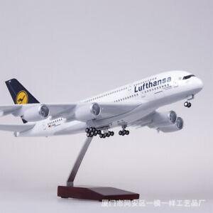 1/160 Lufthansa Airbus A380 Passenger Aircraft Model Light&Sound German Airlines