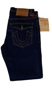 Men's True Religion Rocco Slim Fit Stretch Blue Jeans (W30  to W38)  Leg 32